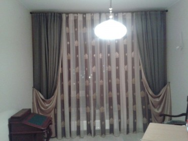 Curtains for cabinet