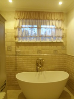 Curtains in the bathroom